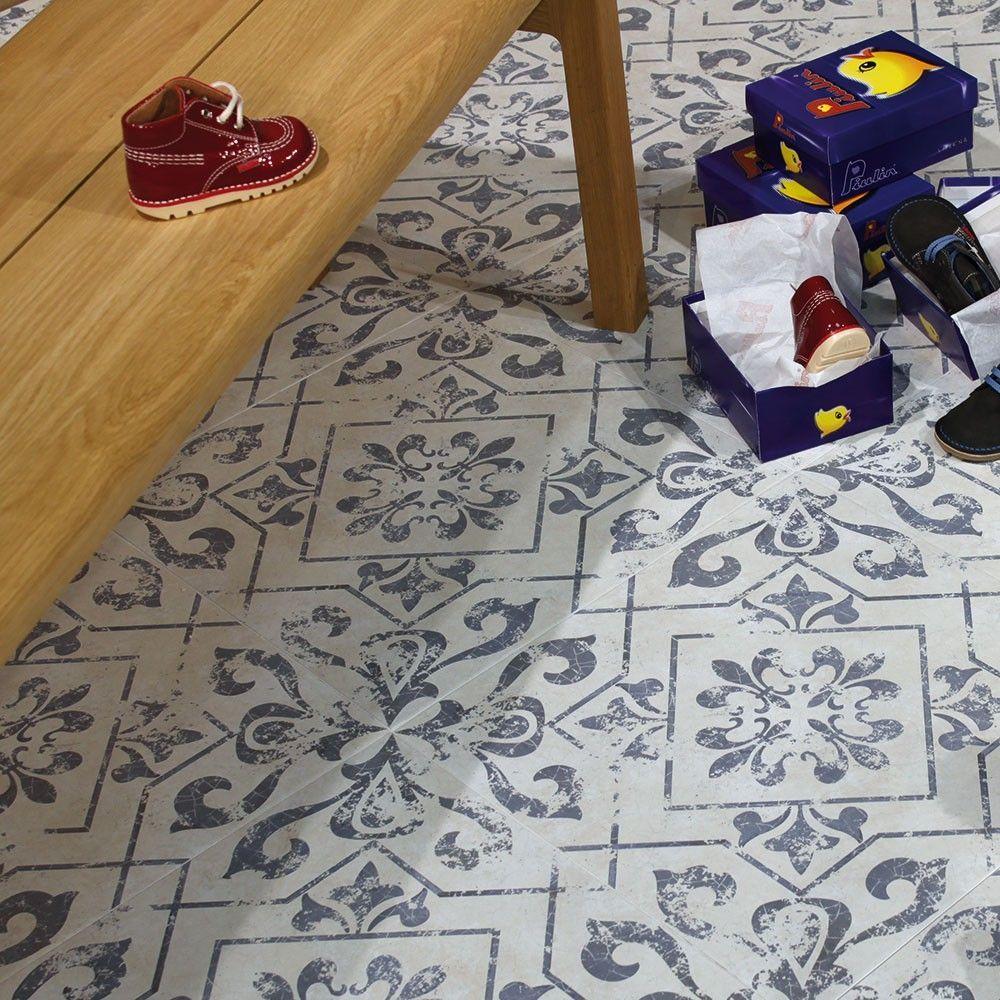 Antique Vintage Blue Floor Tiles Harran Tiles 450x450x9