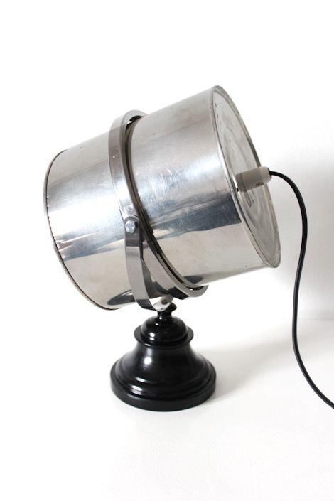 diy Fräck mirror industrial table lamp tin cans & an old