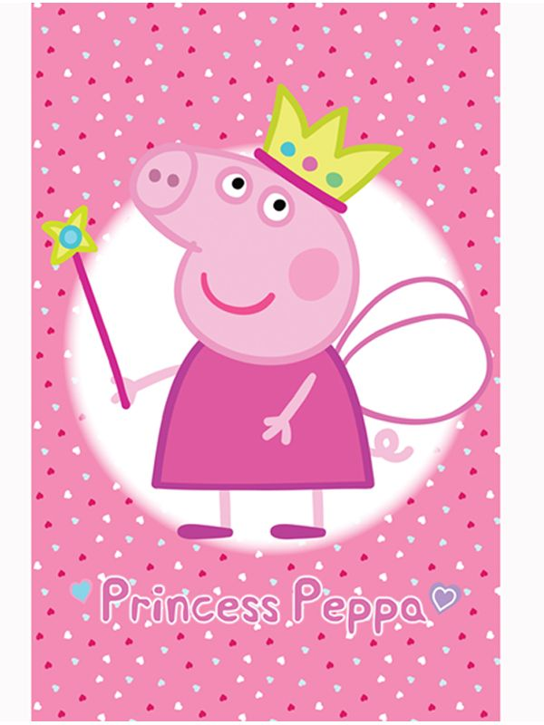 Official Peppa Pig Princess Wall Mural Comes In Six Sections For Easy Application Free Uk Delivery Ava Peppa Pig Wallpaper Pig Wallpaper Peppa Pig Background