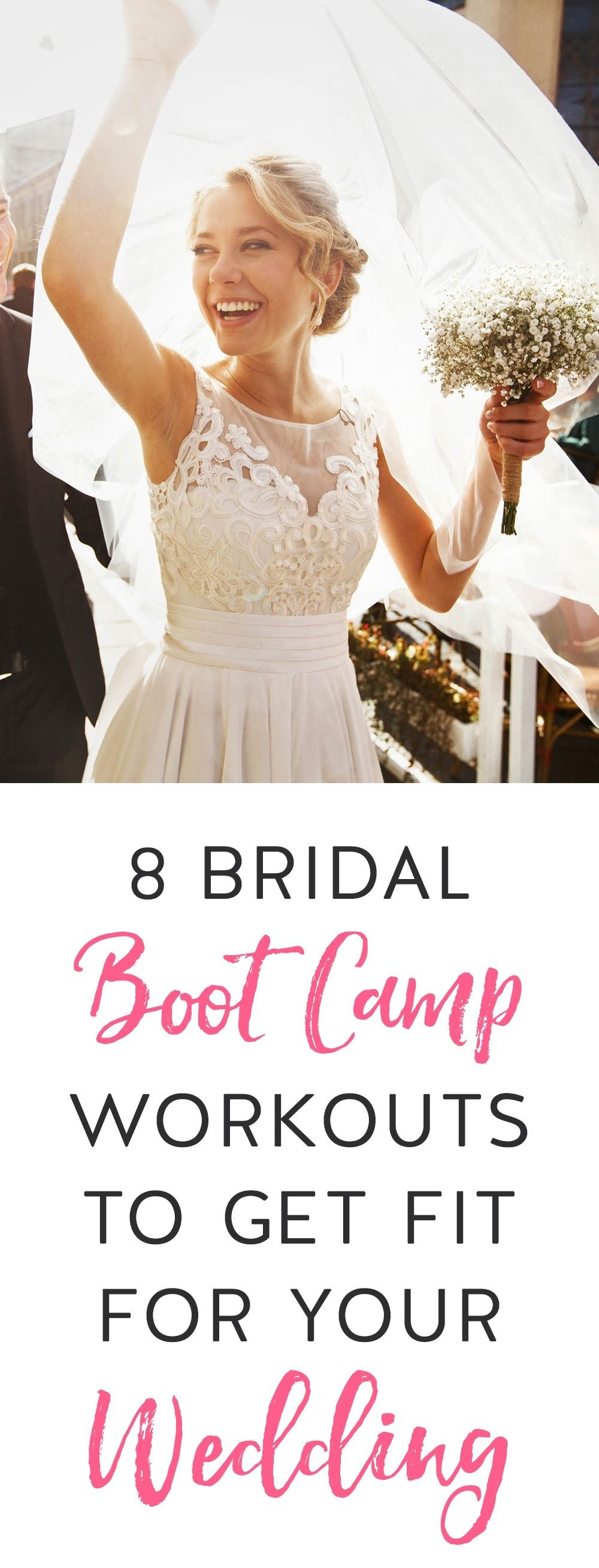 Whether you need to lose weight, tone up or stay exactly the same size, fitness can play an important part in your preparations for your big wedding day. Check out these sweat-busting workouts.