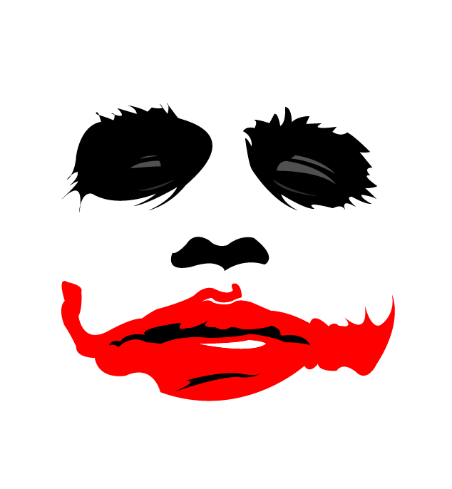 Just A Simple Stencil Done In Illustrator Might Use This On A Shirt One Day Joker Stencil Joker Face Joker Artwork