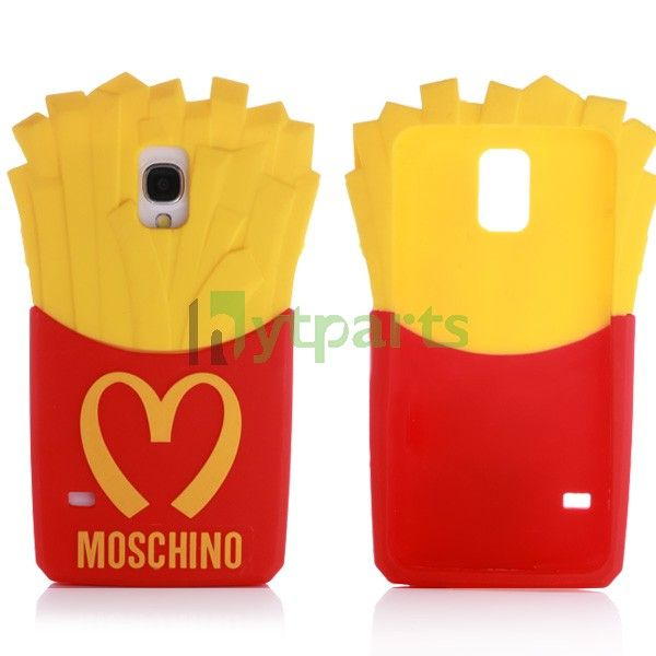 new style f3179 089b5 Silicone Moschino McDonald's 3D Protective Case for Samsung Galaxy ...