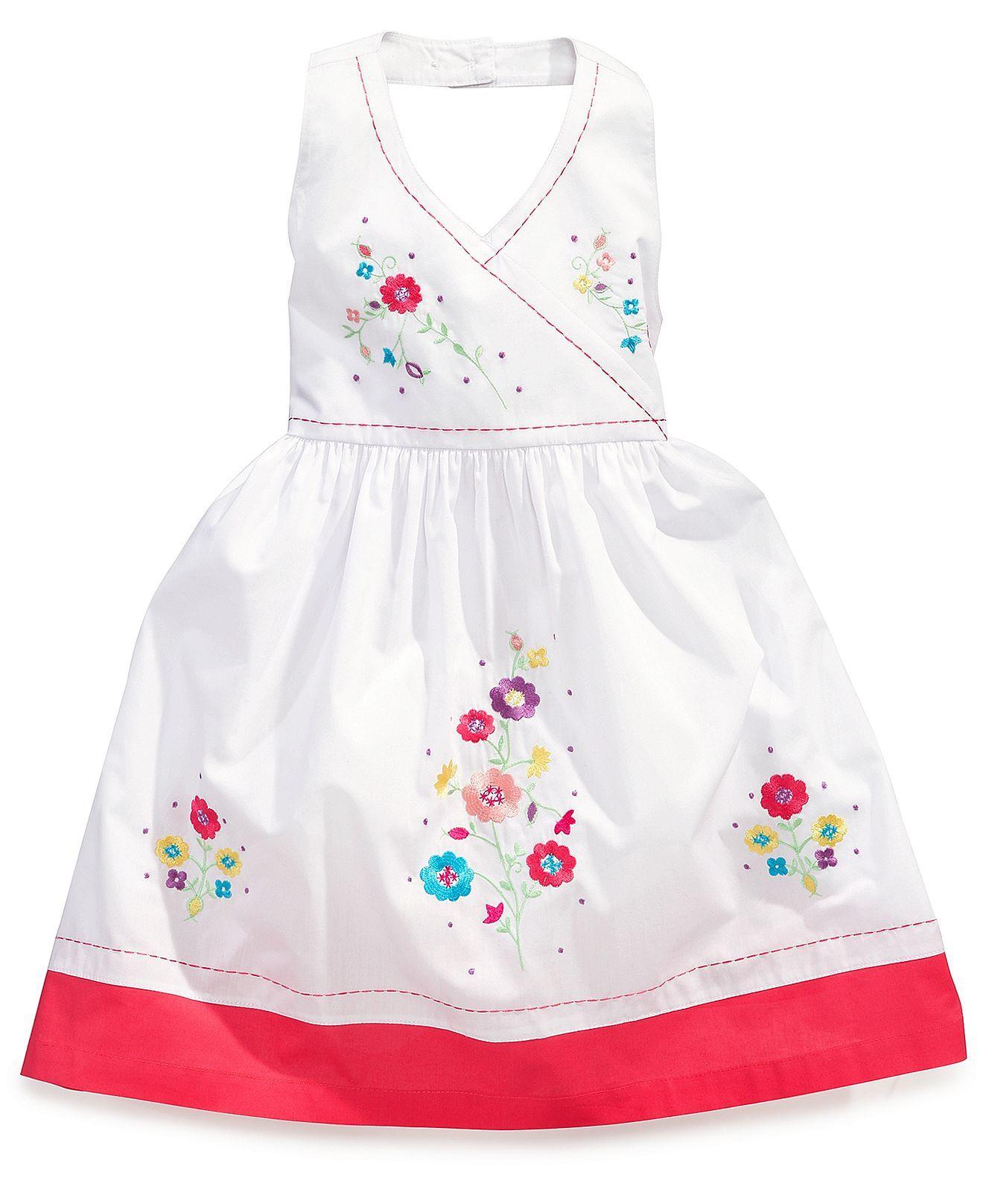 White apron macy's - Blueberi Boulevard Girls Dress Little Girls Embroidered Halter Dress Kids Girls Macy S