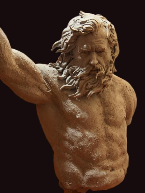 Alex oliver clay sculpture escultura vejez