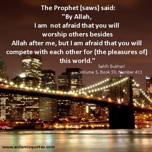 Hadith – Don't Compete for the Pleasures of This World – Islamic Quote About Life		 			Posted on November 10, 2013  by  e Islamic Quotes		 |  		 			Leave a reply