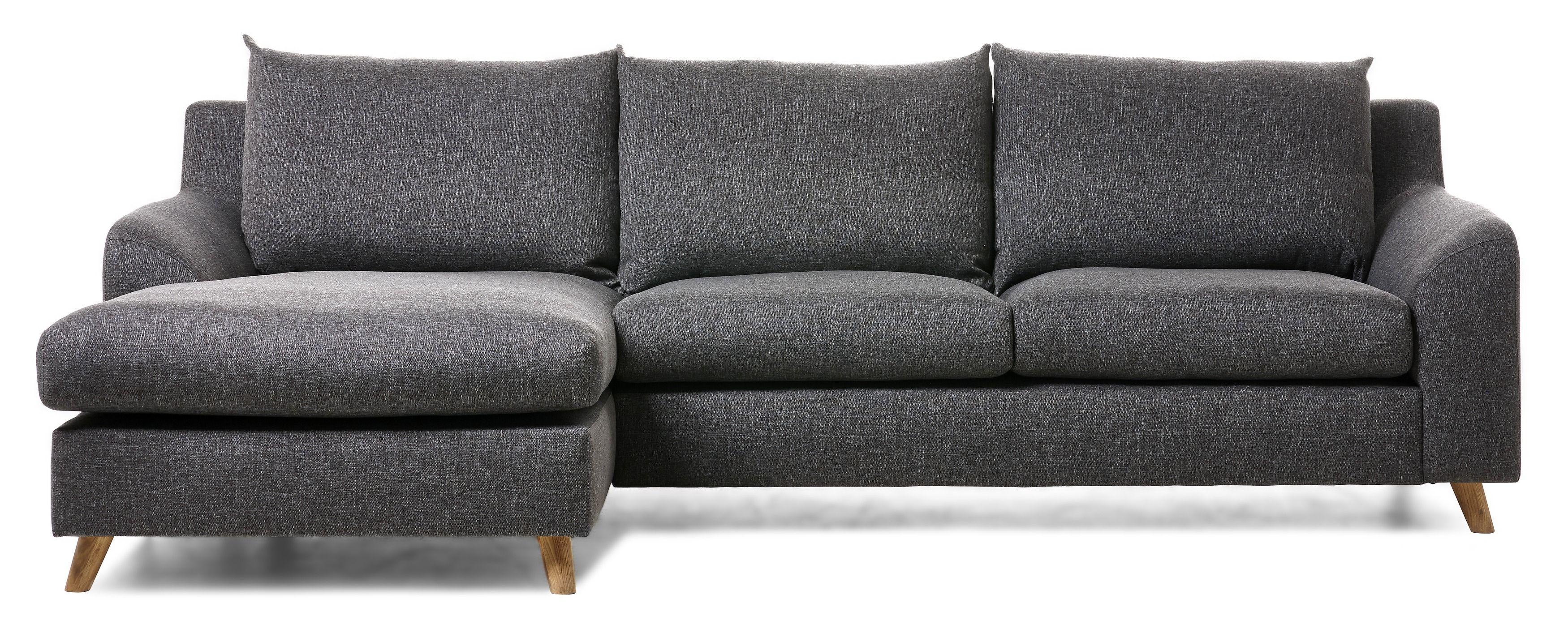 Soffa med ett mjukt formspr¥k har en hög rygg som ger stöd för