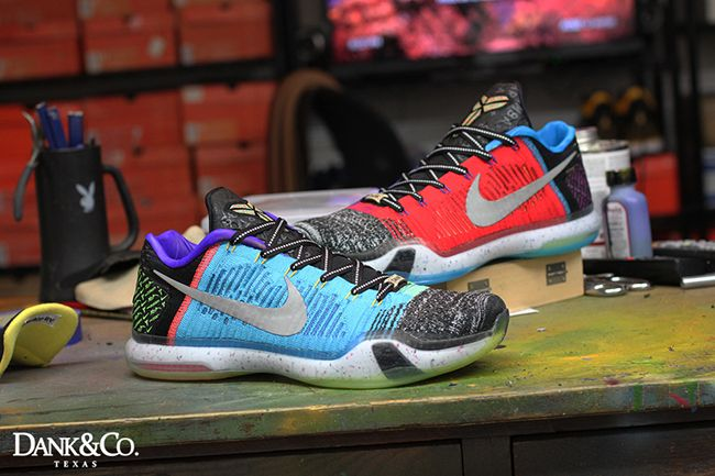 43190b7bcbac74 Nike Kobe 10 Elite Low What The Custom. Dank Customs has designed the Nike  Kobe 10 Elite Low What The Custom which shows how they would look in lows.