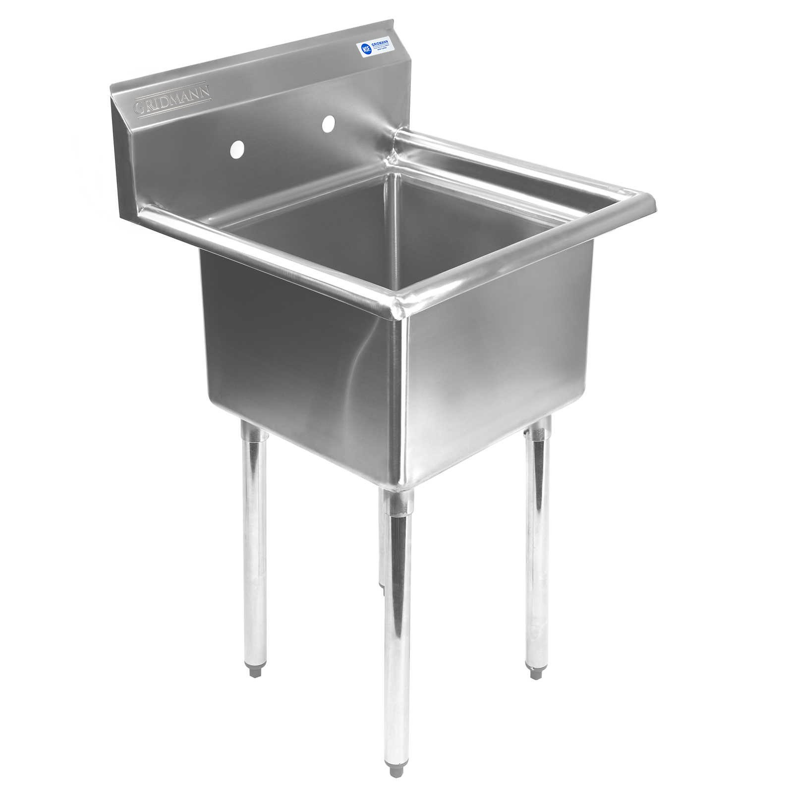 New Stainless Steel Utility Sink with Cabinet