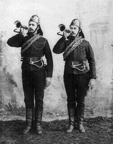 Ottoman Soldiers of the Fire Brigade.