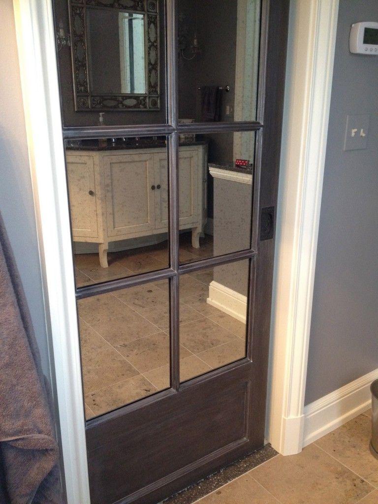 Mirror Pocket Doors Close Up Of Pocket Doors That Flank The Hallway