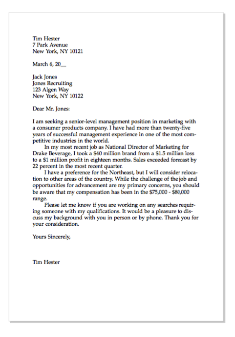 Example Of Senior Management Cover Letter - http://exampleresumecv ...