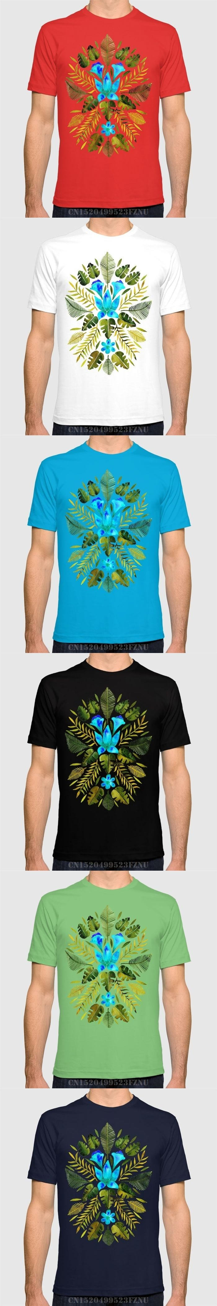 Spring summer discount men t shirts Turquoise & Olive Palette short