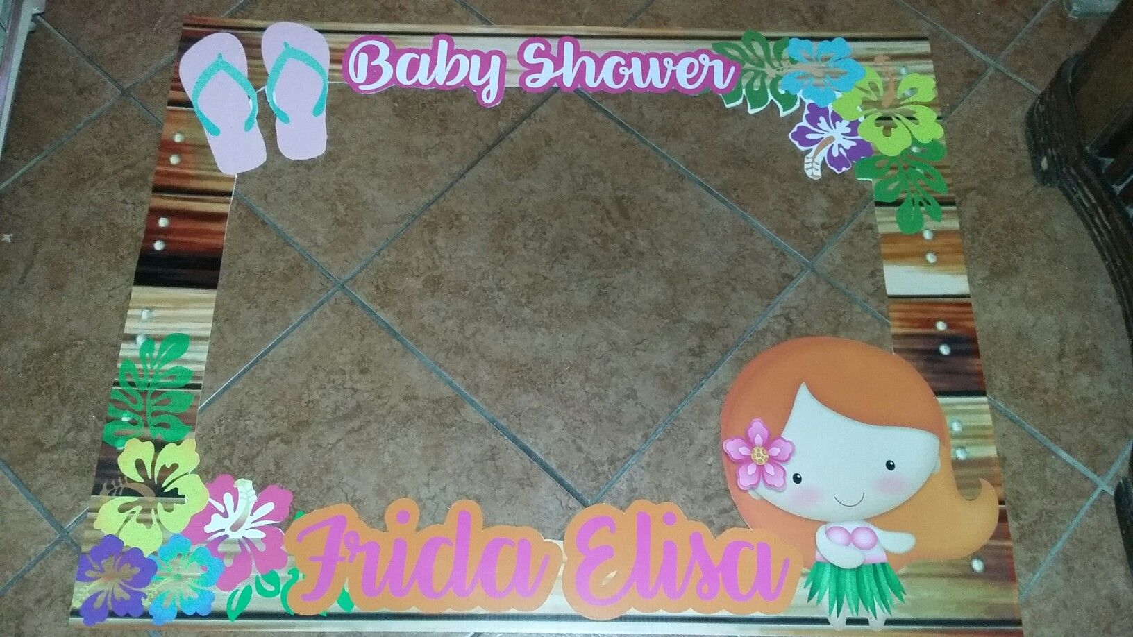 Marco baby shower hawaiano | MARCOS PARA FOTOS | Pinterest | Baby ...