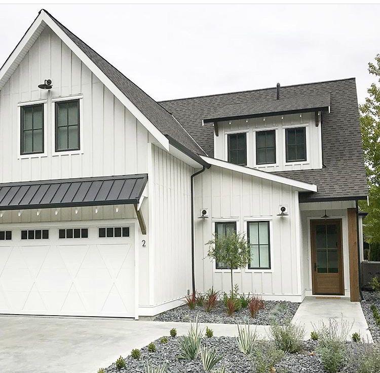 Garage Eyebrow Roof Cache Creek Modern Farmhouse