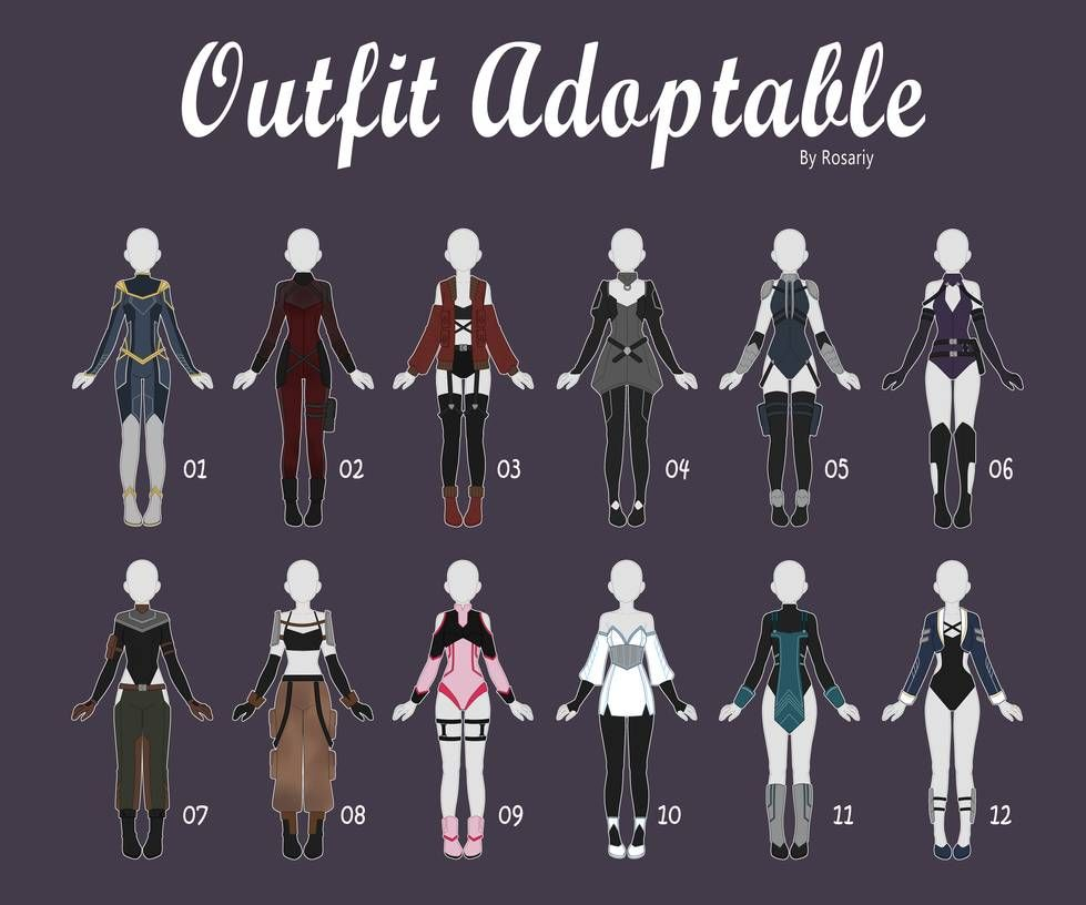 Open 1 12 Casual Outfit Adopts 54 By Rosariy Drawing Anime Clothes Fashion Design Drawings Drawing Clothes