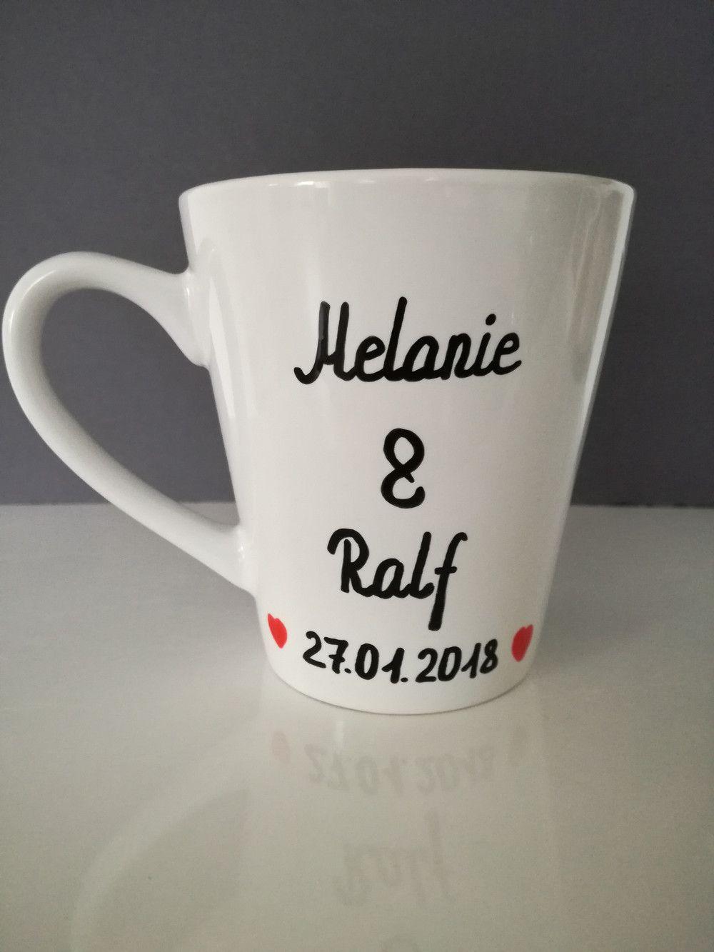 Tasse mit Namen Geschenk Hochzeit Verlobung