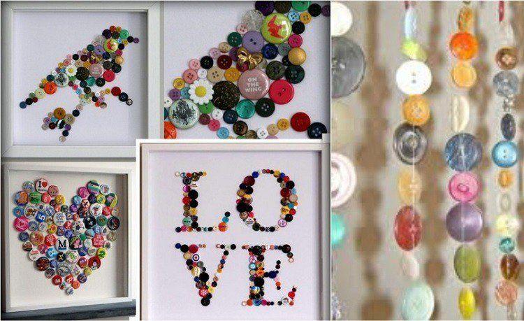 Relativ Loisirs créatifs: 30 idées de bricolage facile avec des boutons  VS45