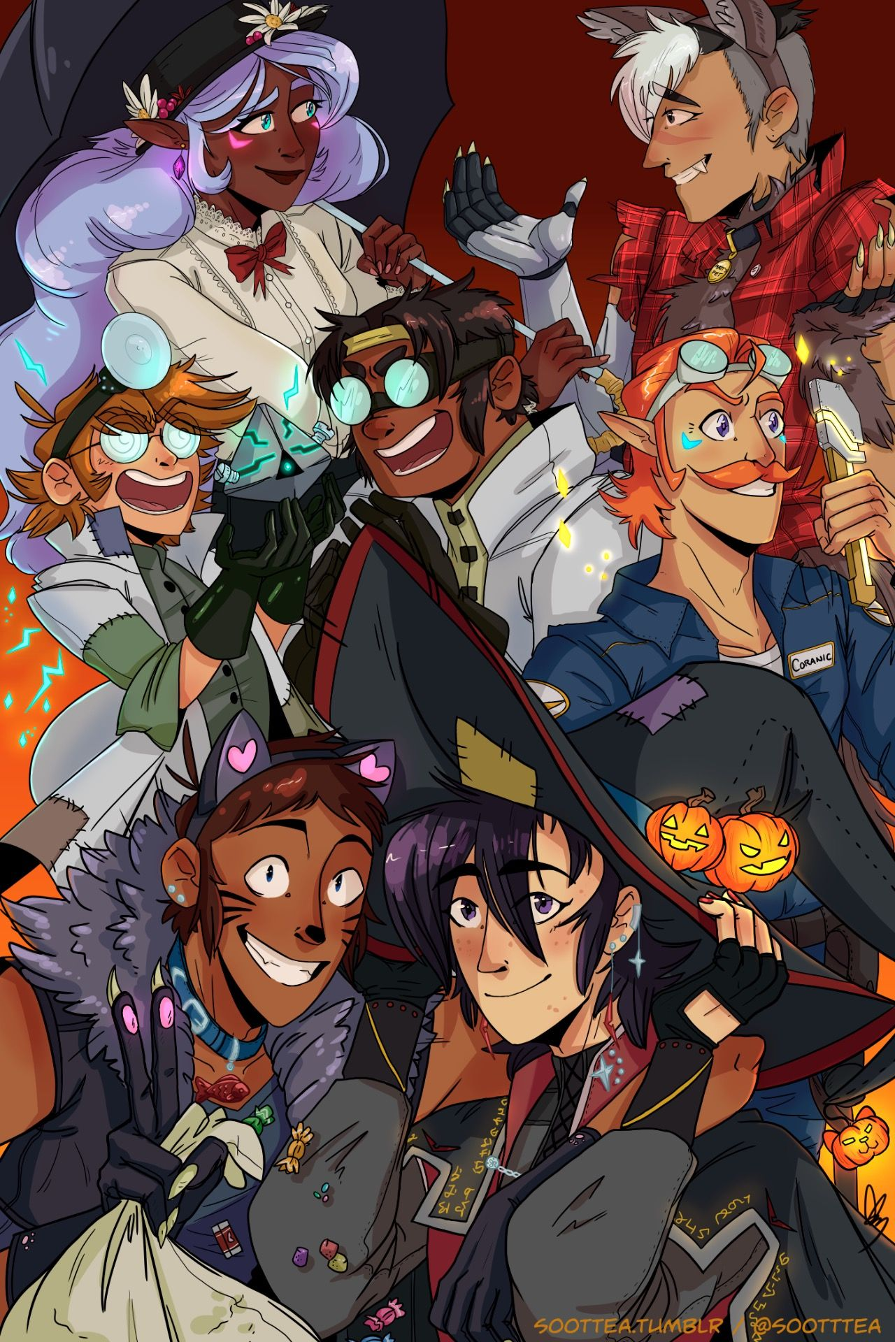 "soottea: "" It's never too early for halloween festivities  (Lance and Keith are my favorites. tho, really, when are they not my favorites?) """