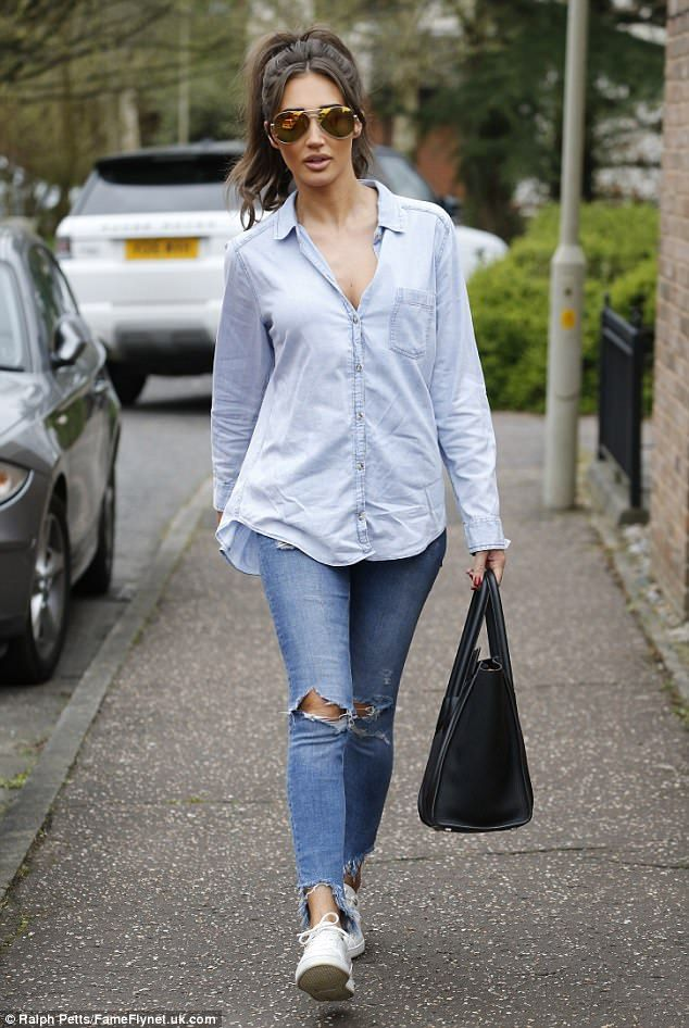 d550fb02af0c Megan McKenna favoured a dressed down look while filming new scenes for The  Only Way Is Essex on Wednesday