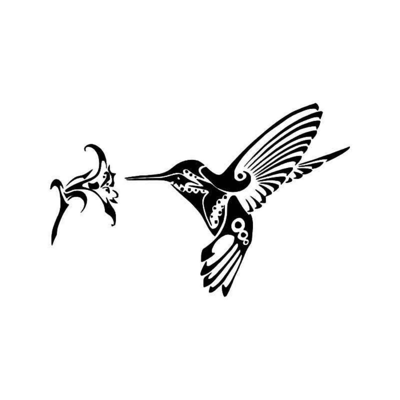 Tribal Hummingbird 2 Vinyl Decal Sticker Templates