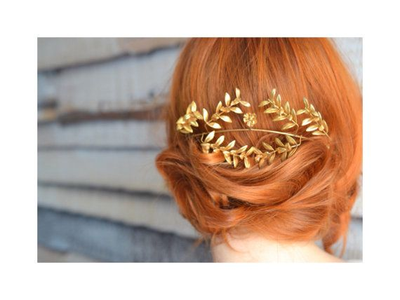 Antique Bridal Wedding Crown Gold German Myrtle Tiara