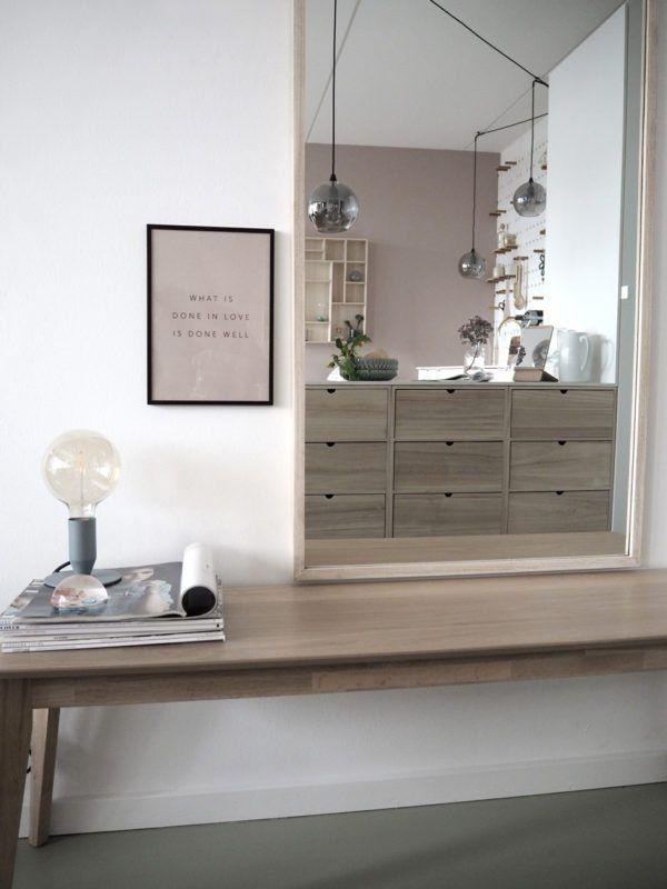 spejl entre Entré med spejl og fin bænk. | Home decor | Pinterest spejl entre