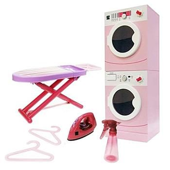 Little Girls Laundry Playset My First Kenmore Wooden Washer