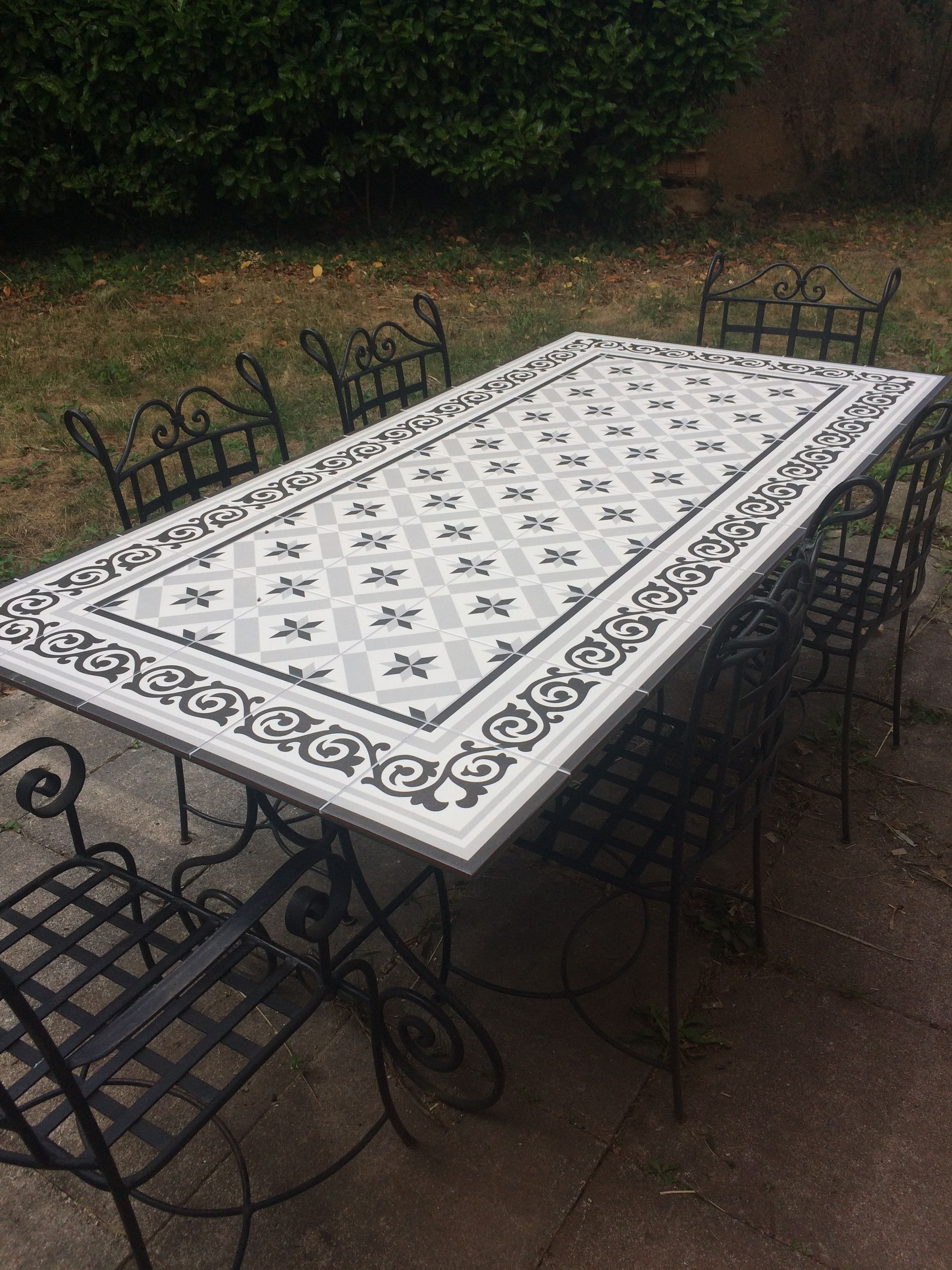 100 Incroyable Suggestions Salon De Jardin Table Carrelée