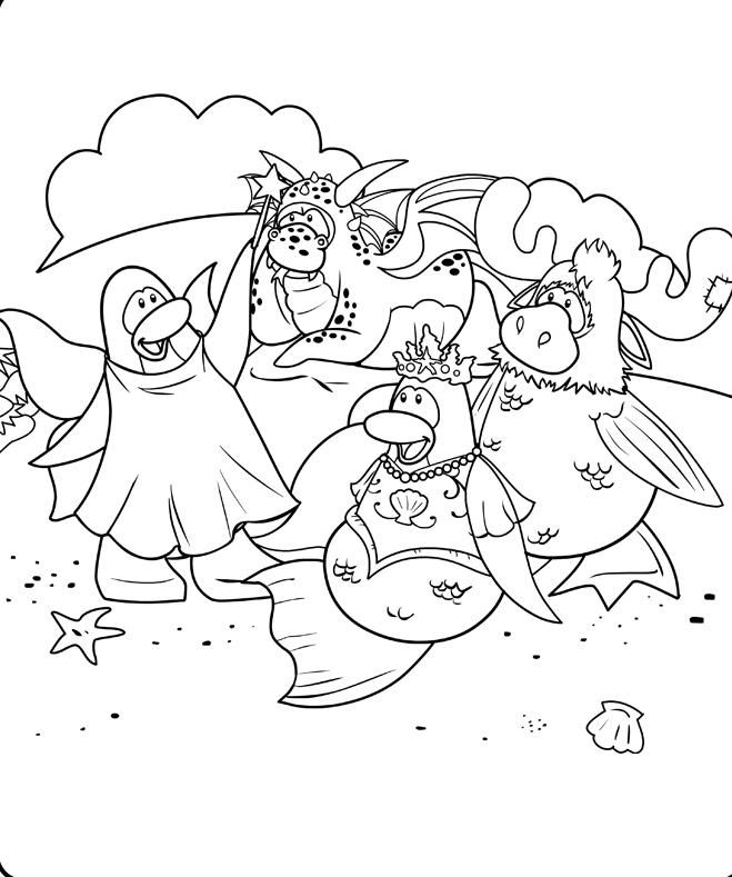 Best Club Penguin Coloring Pages Puffles Print - http ...