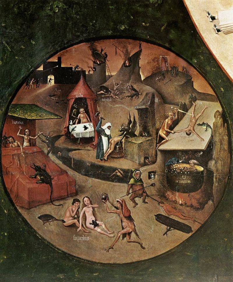 Canvas print The Seven Deadly Sins and the Four Last Things Hieronymus Bosch