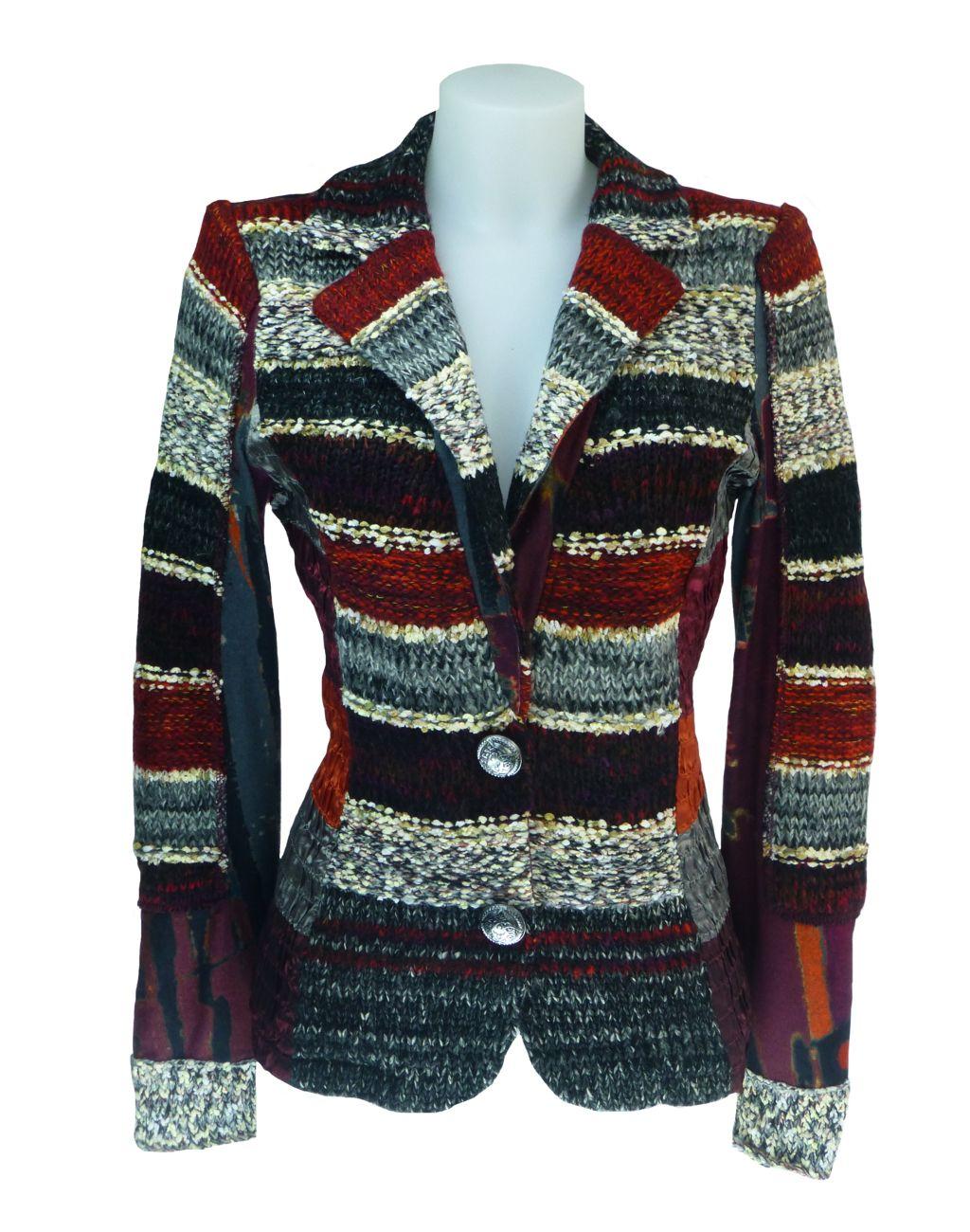 f803ba00c109 LULU-H Burgundy French Style Jacket   LULU H French Fashion ...