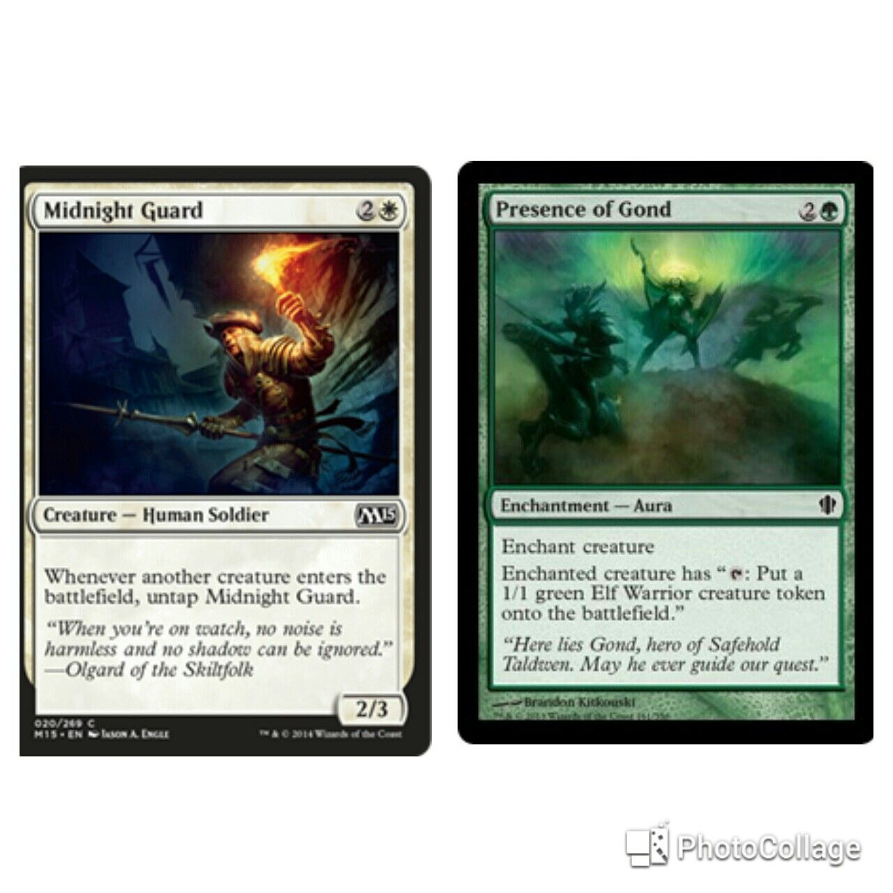 Great Mtg Combo Midnight Guard And Presence Of Gond Magic The Gathering Planeswalker Mtg Decks Magic The Gathering