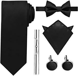Merit Ocean Noir Classique Boutons de Manchette pour Homme en Acier Inoxydable Mariage Cadeaux daffaires
