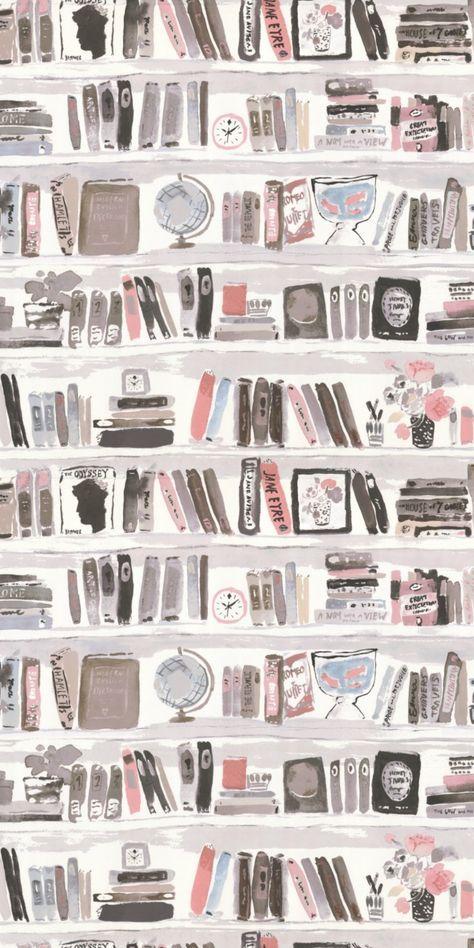 Bella Books by Kate Spade - Blush - Wallpaper : Wallpaper Direct