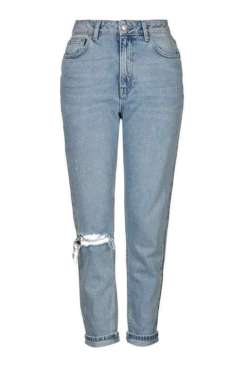 TopShop- TALL Bleach Rip Mom Jeans