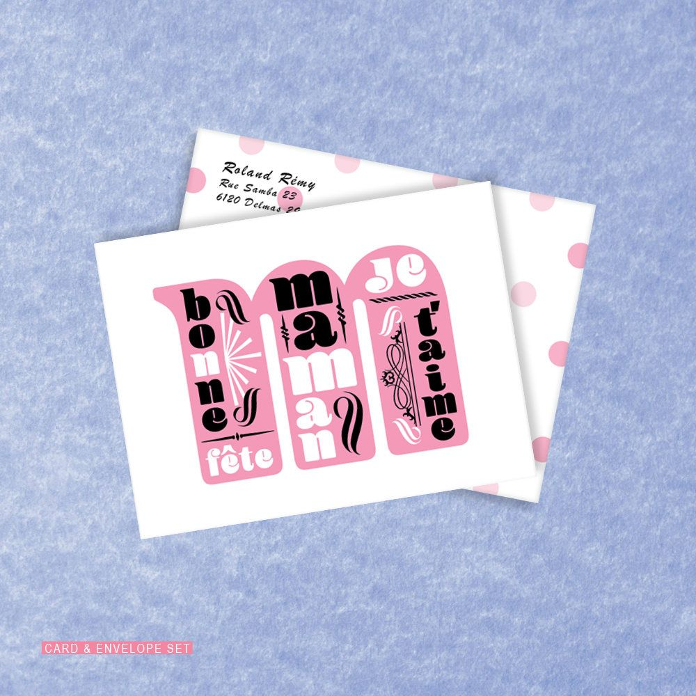 Faate Des Ma Res Carte Bonne Faate Maman French Mother S Day Card