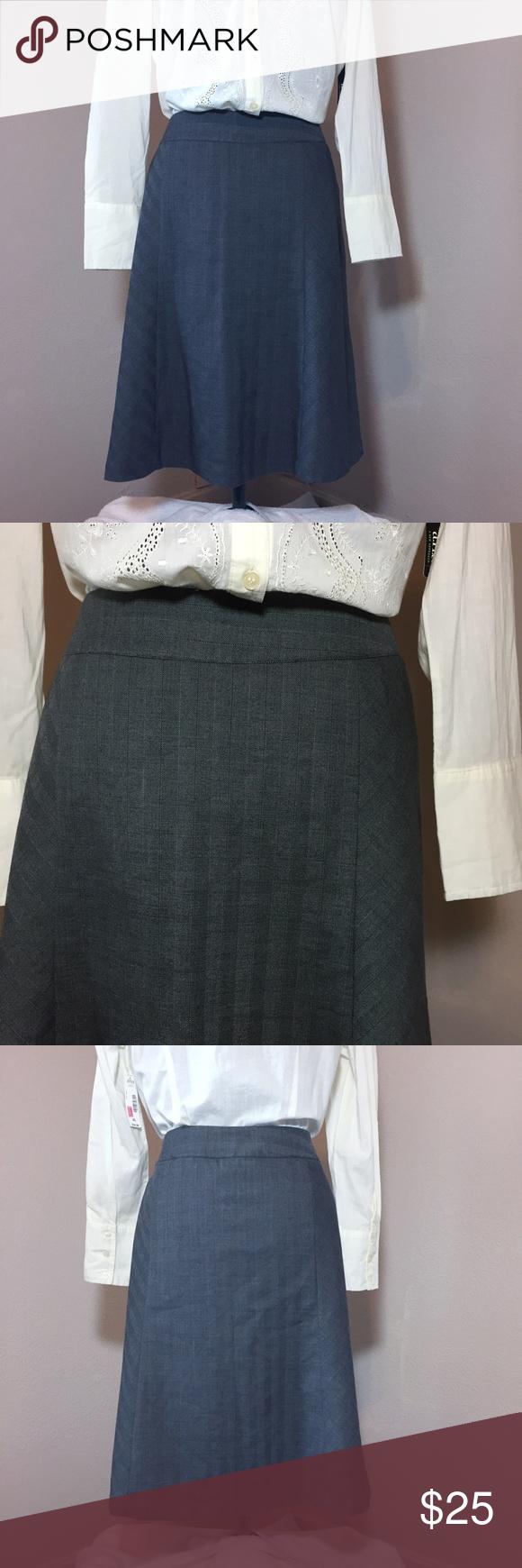 NEW! CJ Banks Gray A-line Skirt NWT | Flared skirt and Gray