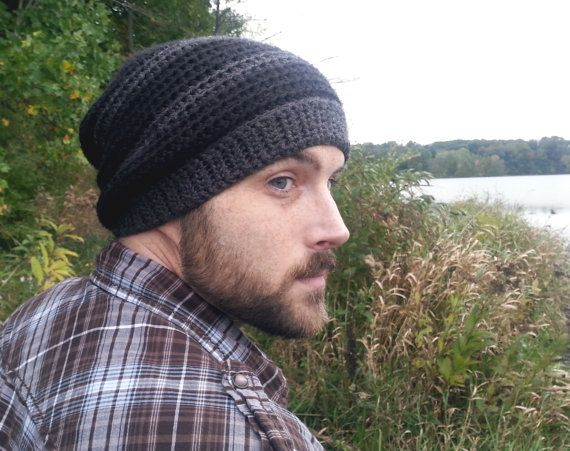 Mens Slouchy Beanie Hat Gift For Boyfriend Slouchy Hat Men