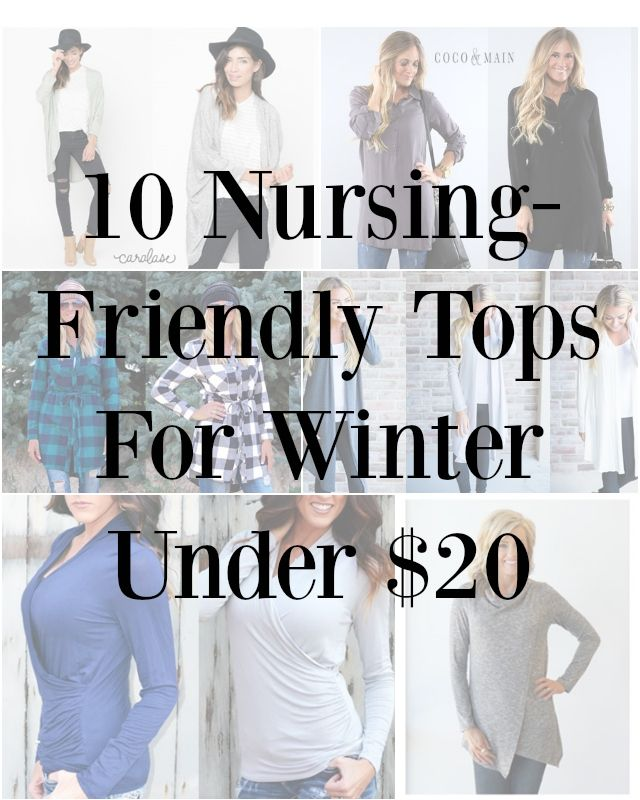 10 Nursing-Friendly Tops Under $20 For Winter | Sewing for Women ...
