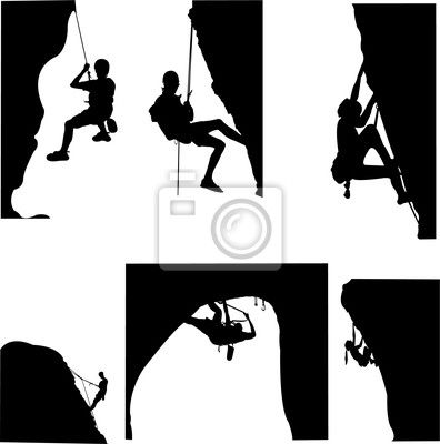 rock climbing - vector Sticker • Pixers® • We live to ...