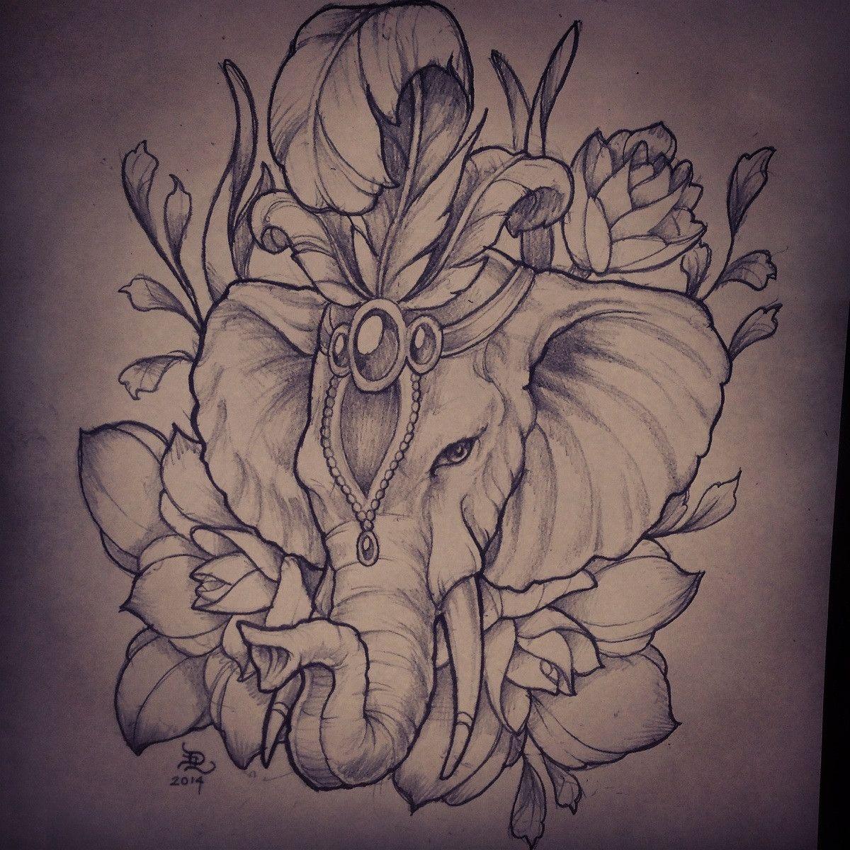 Painted Elephant Tattoo Google Search Elephant Head Tattoo Elephant Tattoo Design Elephant Tattoos