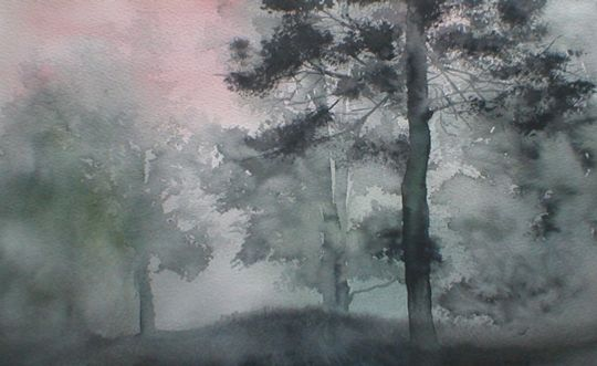 Dark Watercolor Painting By Michael Orlowski Watercolor Paintings Painting Watercolor