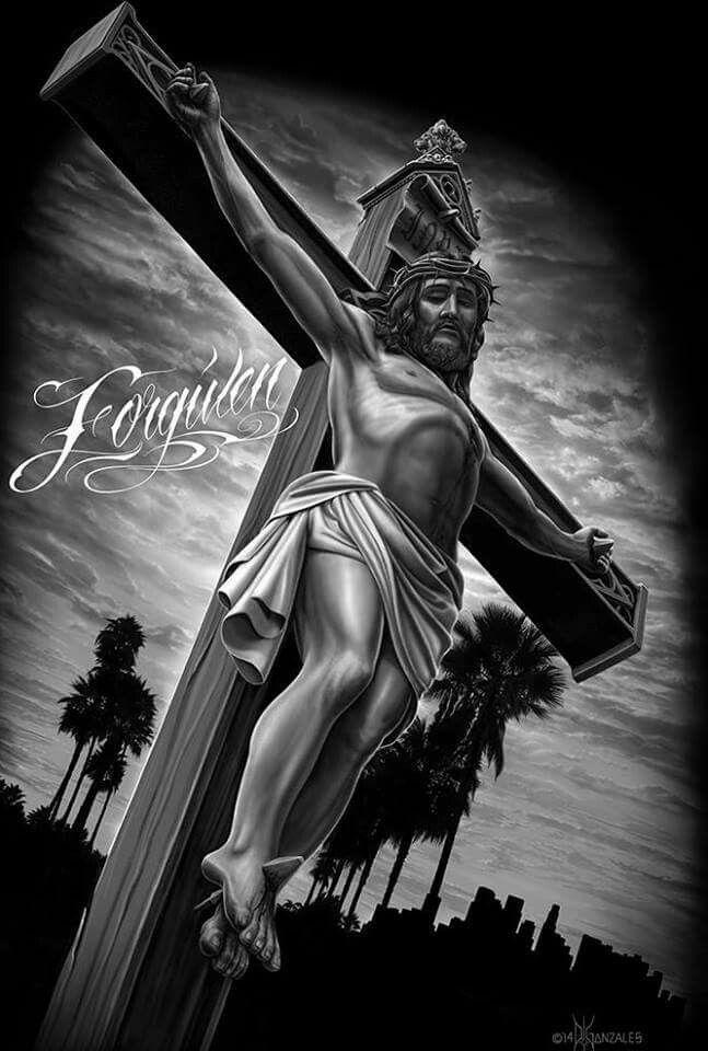 DGA DAVID GONZALES  FORGIVEN JESUS  GANGSTER TATTOO T SHIRT **DESIGN ON BACK