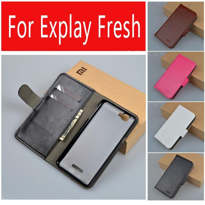 럭셔리 빈티지 PU 가죽 지갑 스탠드 케이스 Explay 신선한 커버 전화 가방 카드 홀더 J & R 브랜드 9 색