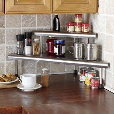 Stainless Steel Corner Shelf Kitchen Metal Frame Outdoor Kitchen