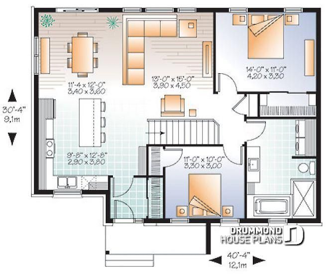 1st Level Open Concept Modern Bungalow With 2 Large Bedrooms