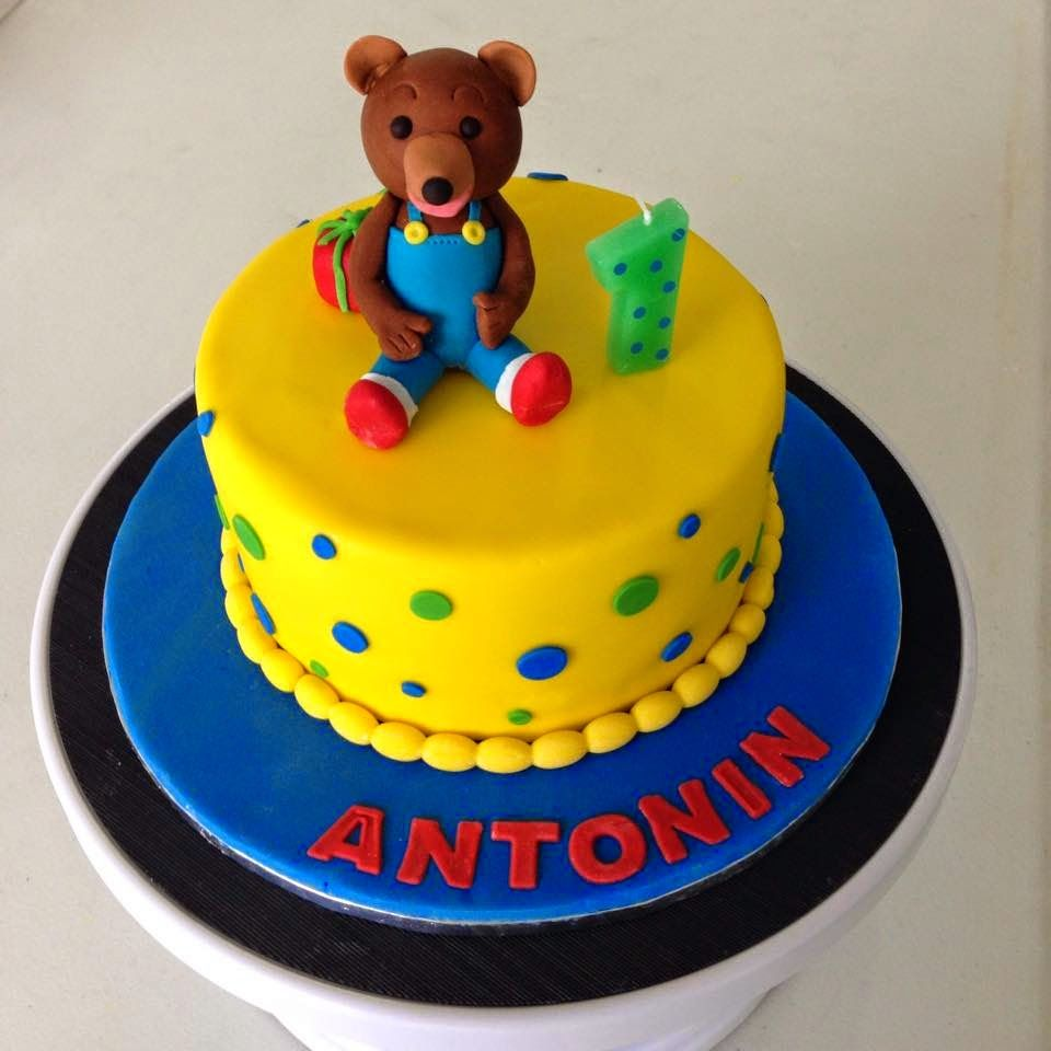 Petit Ours Brun cake by Poppy for Antonin's first birthday