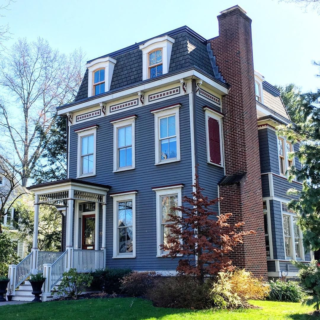 Drop dead gorgeous colonial with a mansard roof in for What is a mansard roof