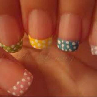 Polka dot French manicure:)