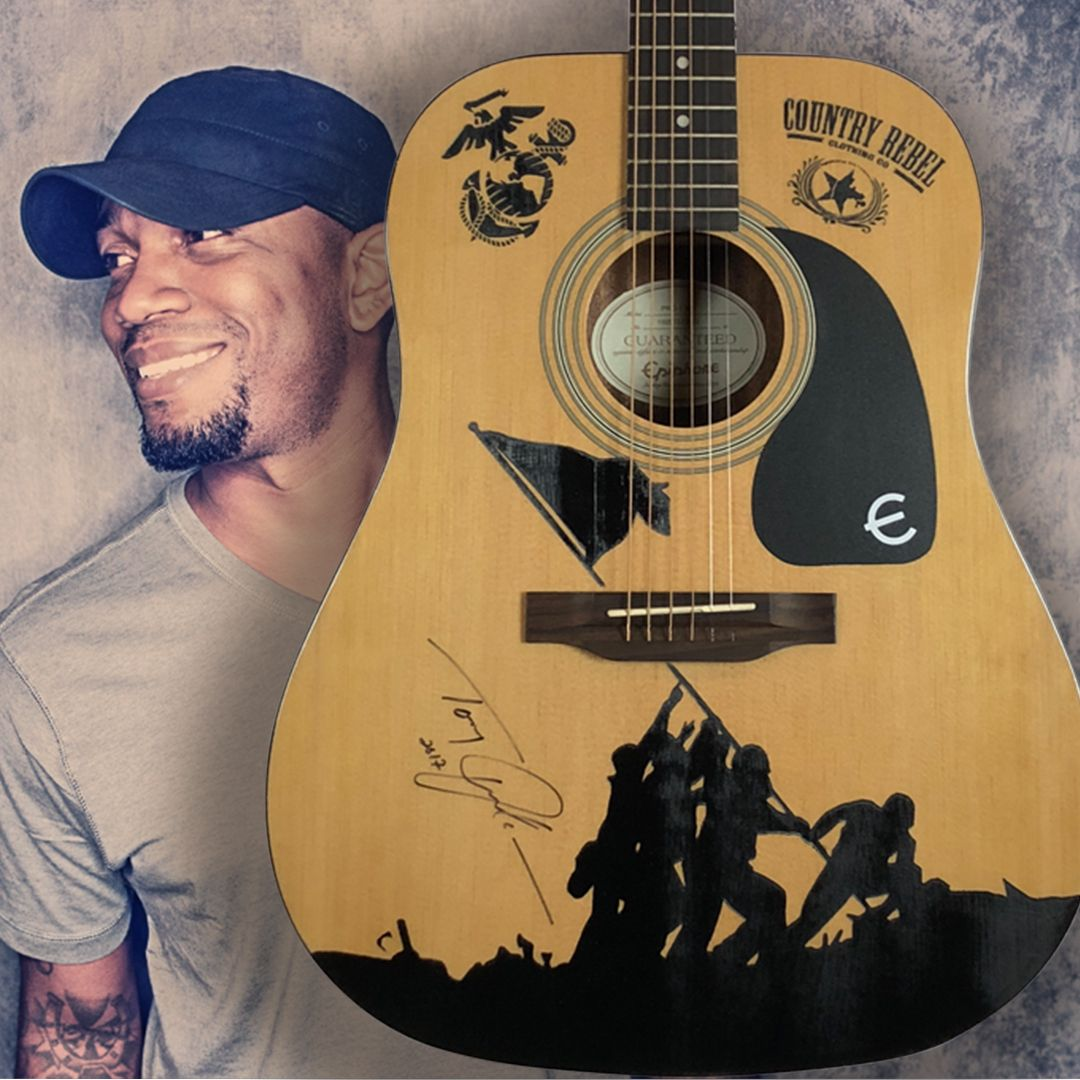 Help Me Win This Beautiful Guitar From Countryrebel Com Signed By Tony Jackson Sweepstakes Beautiful Guitars Jackson